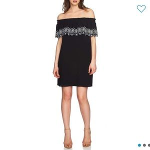 NEW CeCe Off the Shoulder Embroidered Dress